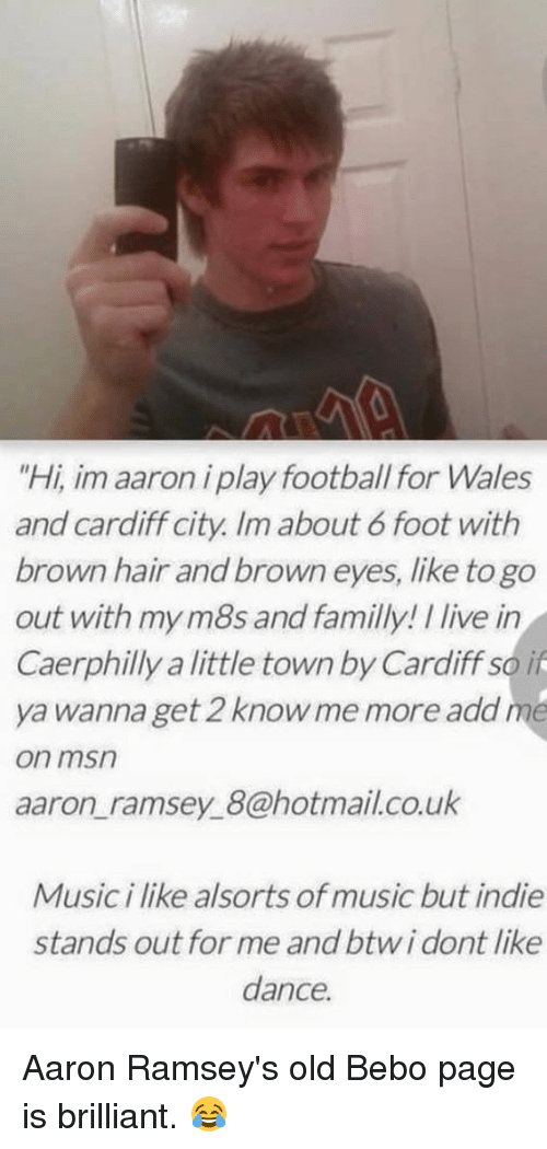 Soccer Hotmail And Brilliant Hi Im Aaron I Play Football For