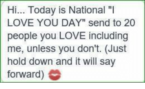 national i love you day