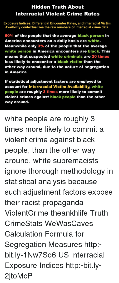 Interracial crime data