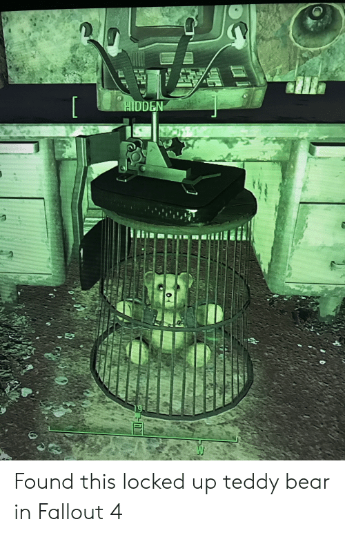 HIDDEN W Found This Locked Up Teddy Bear in Fallout 4