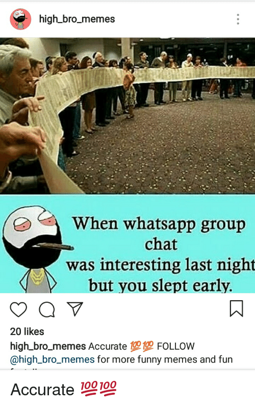 High Bro_memes a When Whatsapp Group Chat Was Interesting