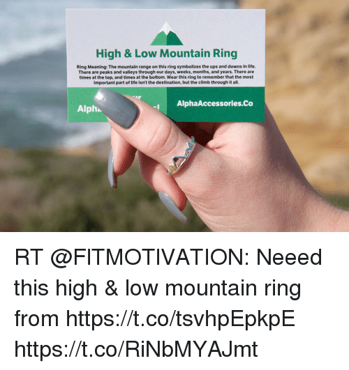 High Low Mountain Ring Ring Meaning The Mountain Range On This