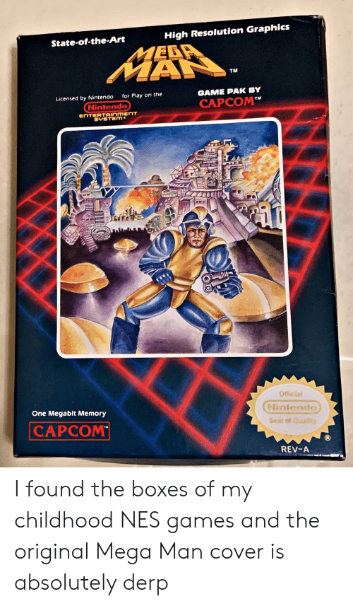 High Resolution Graphics State-Of-The-Art MEGA MAN TM GAME PAK BY