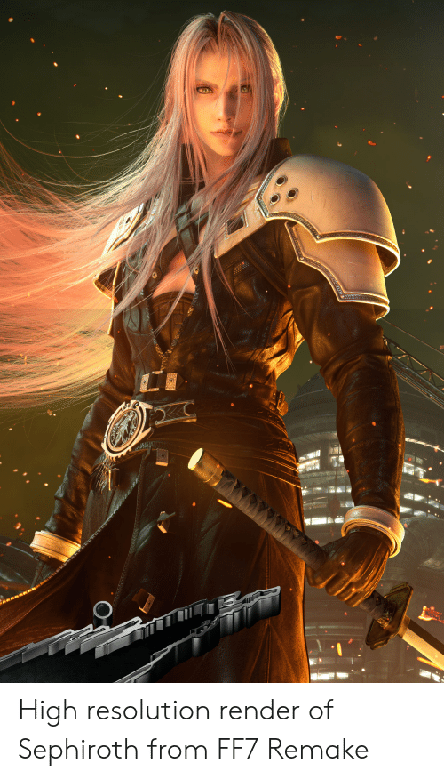 High Resolution Render Of Sephiroth From Ff7 Remake Ff7