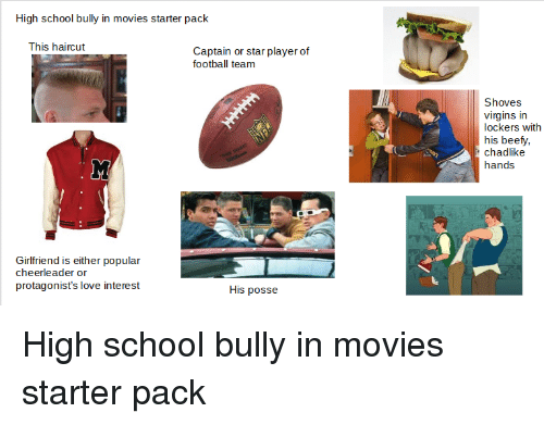 High School Bully In Movies Starter Pack This Haircut