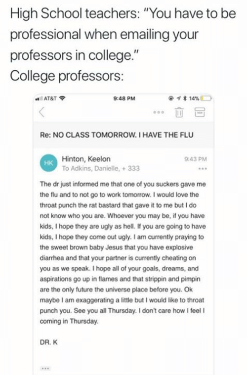 High School Teachers You Have to Be Professional When