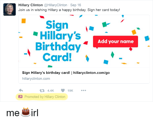 Hillary Clinton Clinton Sep 16 Join Us In Wishing Hillary A Happy
