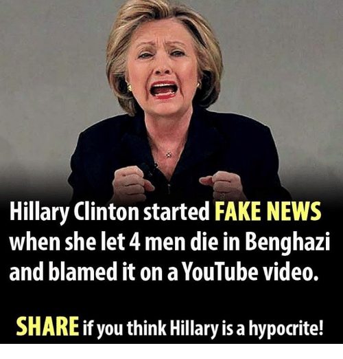 Hillary Clinton Latest News: Hillary Clinton Started FAKE NEWS When She Let 4men Die In
