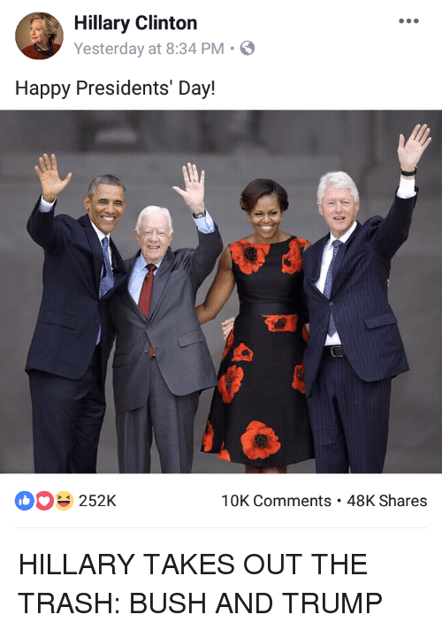 Hillary Clinton Yesterday At 834 Pm Happy Presidents Day ぬ 252k