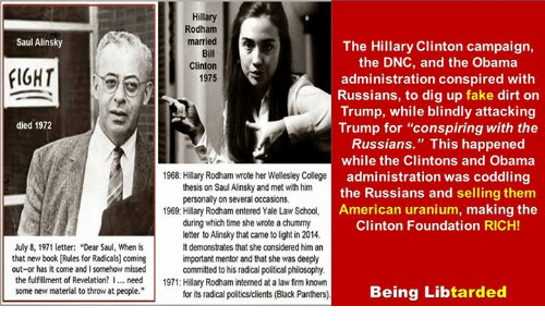 hillary clintons 1969 thesis on saul alinsky