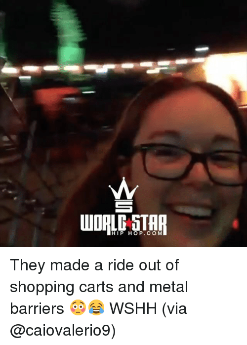 Memes, Shopping, and Wshh: HIP HOP. COM They made a ride out of shopping carts and metal barriers 😳😂 WSHH (via @caiovalerio9)
