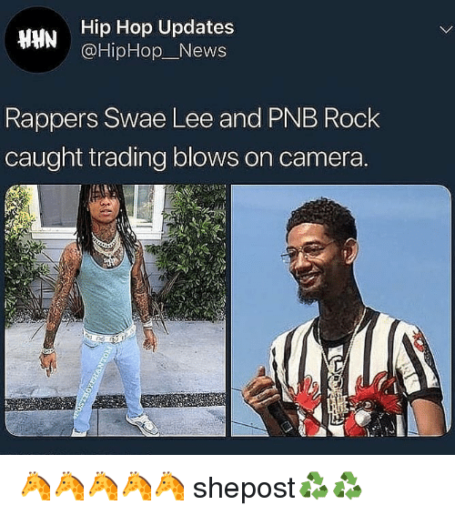 Hip Hop Updates News Rappers Swae Lee and PNB Rock Caught Trading