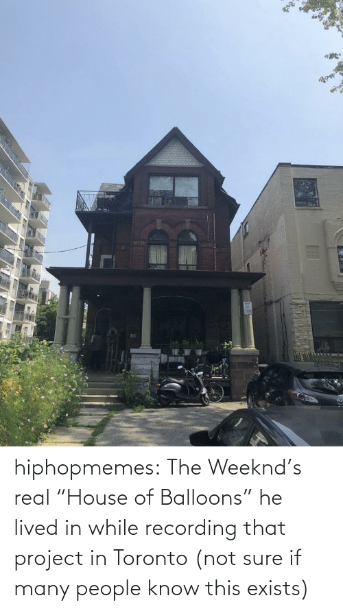 """The Weeknd, Tumblr, and Blog: hiphopmemes:  The Weeknd's real """"House of Balloons"""" he lived in while recording that project in Toronto (not sure if many people know this exists)"""