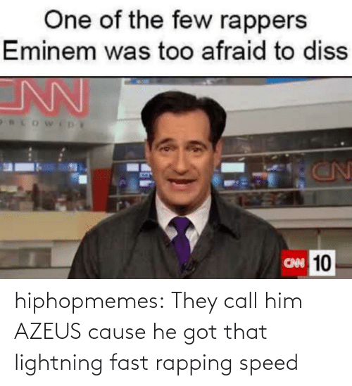 Tumblr, Blog, and Lightning: hiphopmemes:  They call him AZEUS cause he got that lightning fast rapping speed