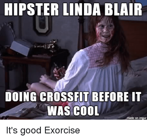 hipster linda blair doing crossfit before it was cool on 22132021 hipster linda blair doing crossfit before it was cool on inngur