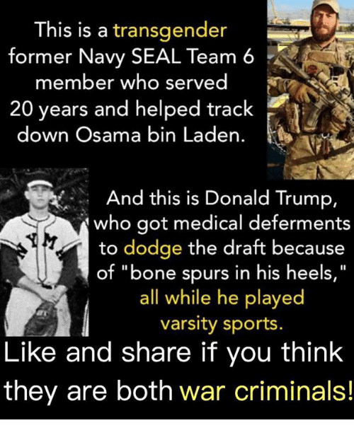 His Is a Transgender Former Navy SEAL Team 6 Member Who Served 20