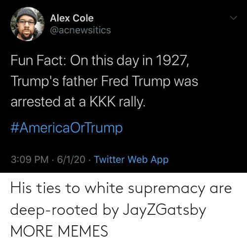 Dank, Memes, and Target: His ties to white supremacy are deep-rooted by JayZGatsby MORE MEMES