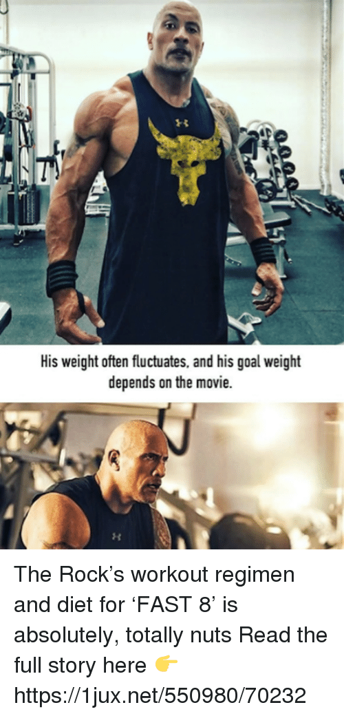His Weight Often Fluctuates and His Goal Weight Depends on