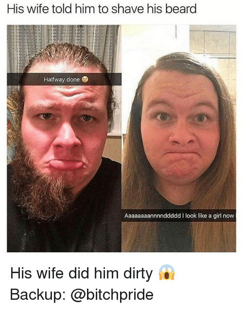 She shaves his ass