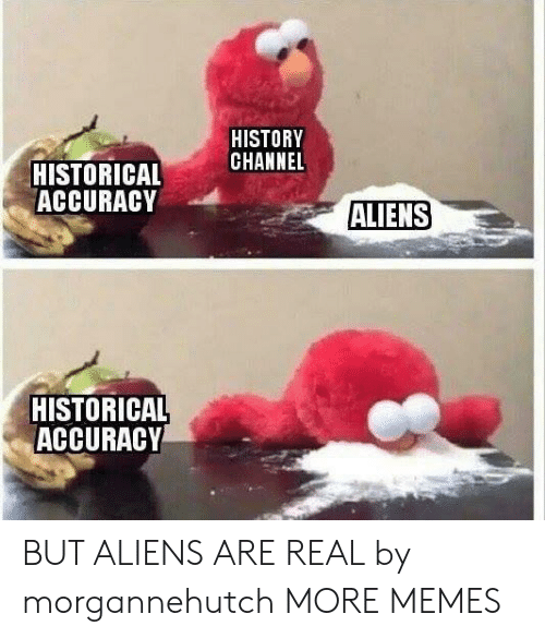Dank, Memes, and Target: HISTORY  CHANNEL  HISTORICAL  ACCURACY  ALIENS  HISTORICAL  ACCURACY BUT ALIENS ARE REAL by morgannehutch MORE MEMES