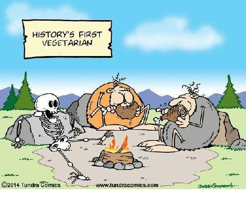history s first t vegetarian co2014 tundra comics wwwtundracomics