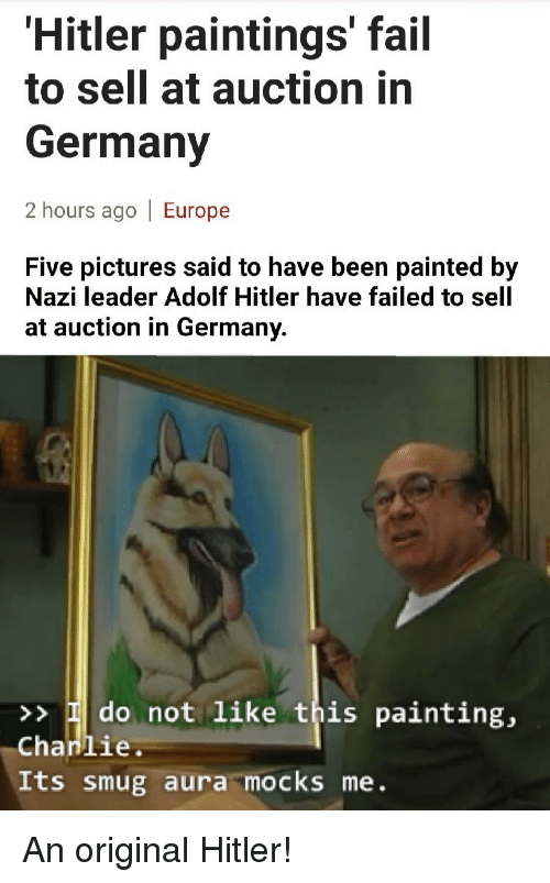 Hitler Paintings Fail To Sell At Auction In Germany 2 Hours Ago