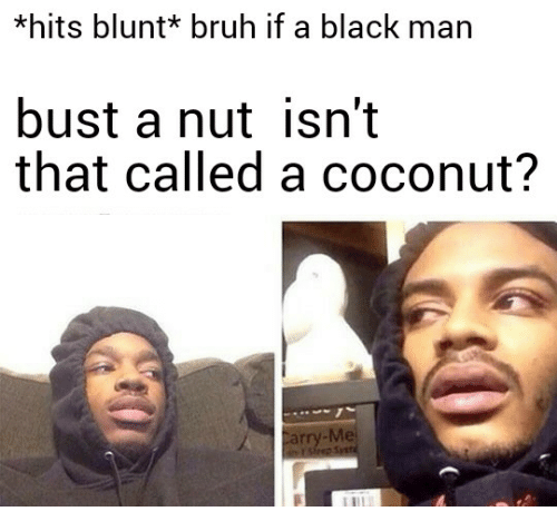 Black men busting a nut