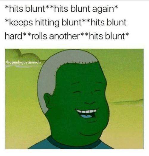 Blunts, Memes, and 🤖: *hits blunt**hits blunt again  *keeps hitting blunt**hits blunt  hard**rolls another *hits blunt  @openly gayanimals