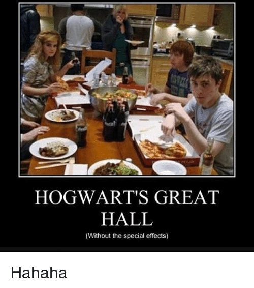 Memes, 🤖, and Hogwarts: HOGWART'S GREAT  HALL  (Without the special effects) Hahaha