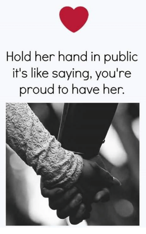 how to hold her hand