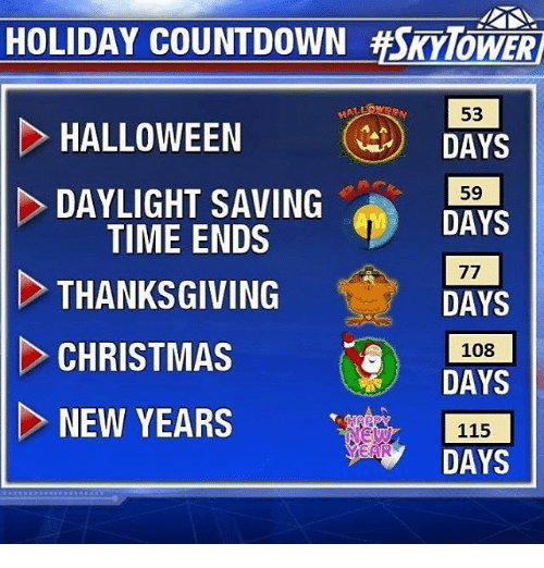 Halloween Thanksgiving Christmas Countdown.Holiday Countdown Mover 53 Halloween Days 59 Daylight