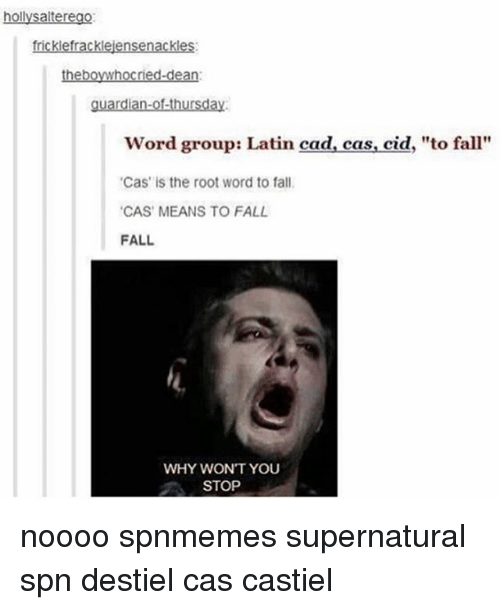 Fall Memes And Guardian Hollysalterego Fricklefracklejensenackles Theboywhocried Dean Ofthursday