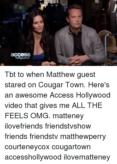 "matthew town cougar women Matthew perry is joining his one of his ""friends"" on ""cougar town"" the actor will guest star on courteney cox's tbs comedy later this winter."