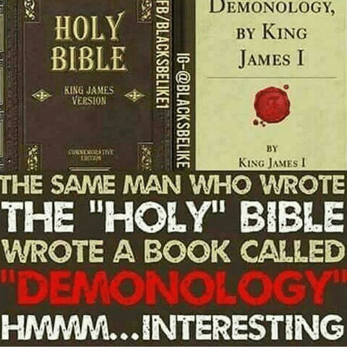 HOLY BIBLE DEMONOLOGY BY KING JAMES I KING JAMES VERSION BY