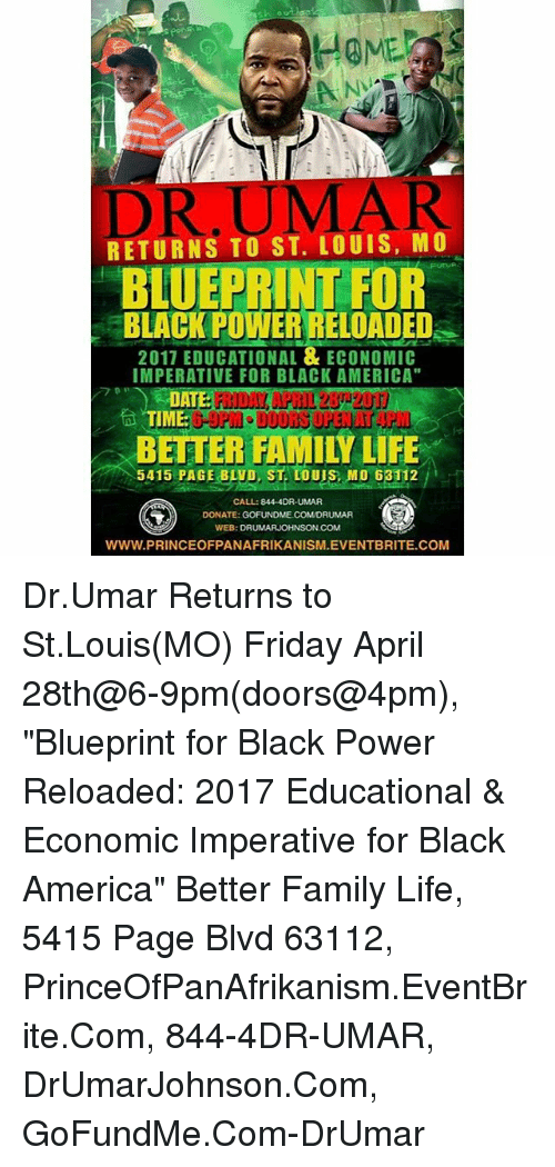 Home dr uma l returns to st louis mo blueprint for powerreloaded home dr uma l returns to st louis mo blueprint for powerreloaded 2011 educational economic imperative for black america im 5415 page blvd st louis mo malvernweather Gallery