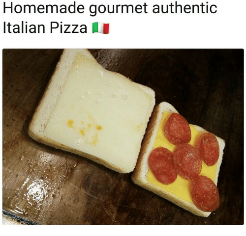 Pizza, Italian, and Authentic: Homemade gourmet authentic  Italian Pizza I