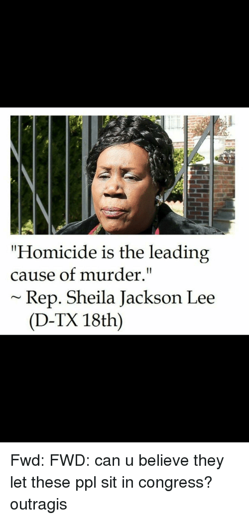 homicide is the leading cause of murder rep sheila jackson lee d tx