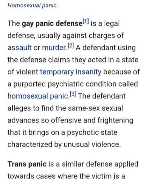 from Gavin defeating the gay panic defense