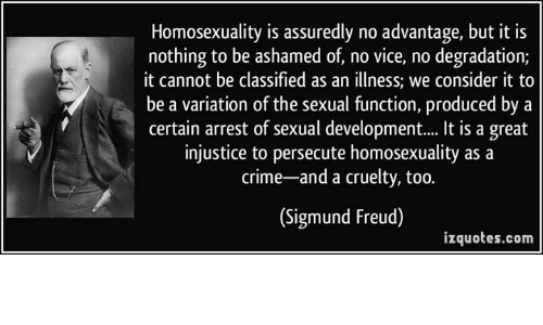 Freuds ideas on homosexuality