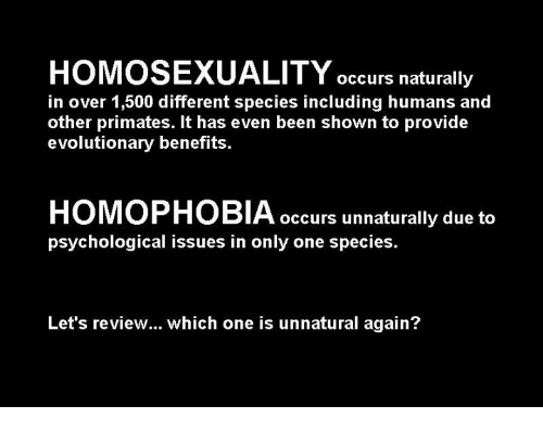 Honosexuality in species