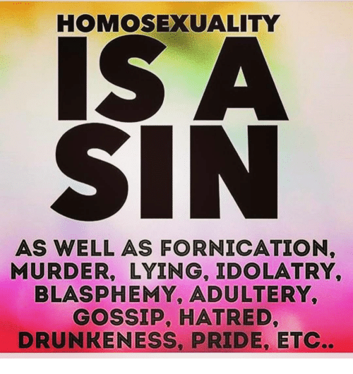 Homosexuality a sin