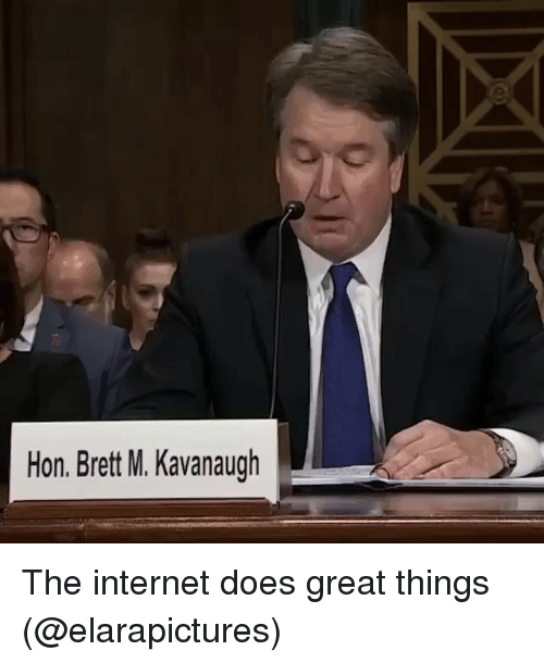 Funny, Internet, and The Internet: Hon. Brett M. Kavanaugh The internet does great things (@elarapictures)