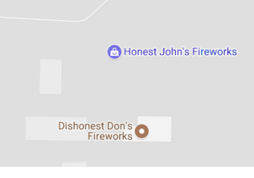 Fireworks, Johns, and Honest: Honest John's Fireworks  Dishonest Don's  Fireworks