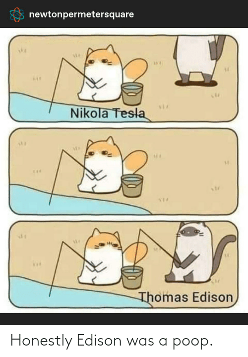 Poop, Edison, and History: Honestly Edison was a poop.