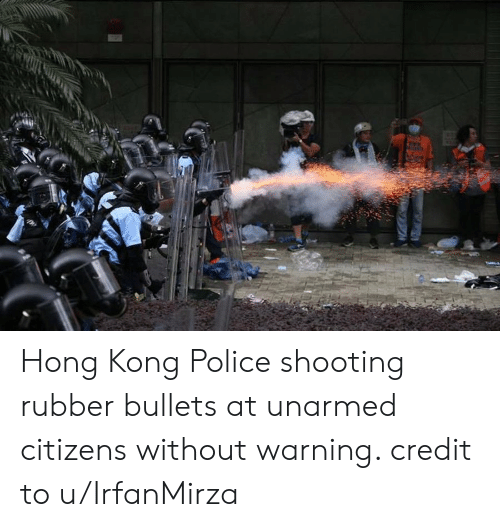 Hong Kong Police Shooting Rubber Bullets at Unarmed Citizens Without