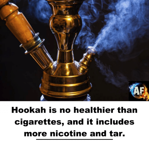 Memes, Hookah, and 🤖: Hookah is no healthier than  cigarettes, and it includes  more nicotine and tar.