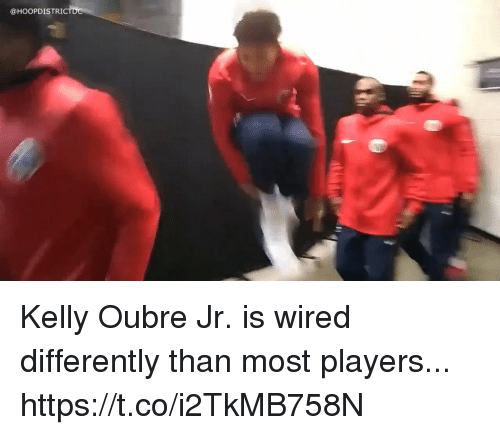 Memes, Wired, and 🤖: @HOOPDISTRI Kelly Oubre Jr. is wired differently than most players... https://t.co/i2TkMB758N