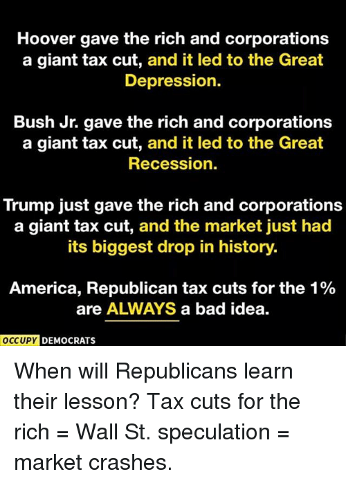 hoover gave the rich and corporations a giant tax cut 30745920 hoover gave the rich and corporations a giant tax cut and it led to