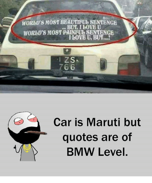 Bmw Quotes Beauteous Horbl's M Beautifulsentenge I Bove U But Zs 766 Car Is Maruti But