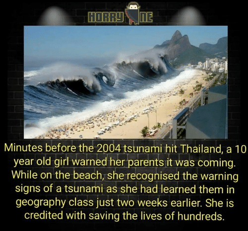 HORRYIE Minutes Before the 2004 Tsunami Hit Thailand a 10 Year Old